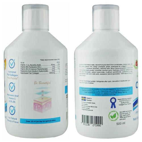 Marine Kollagen Hydrolysat Peptide flüssig - 5.000mg/Dosis, 500 ml