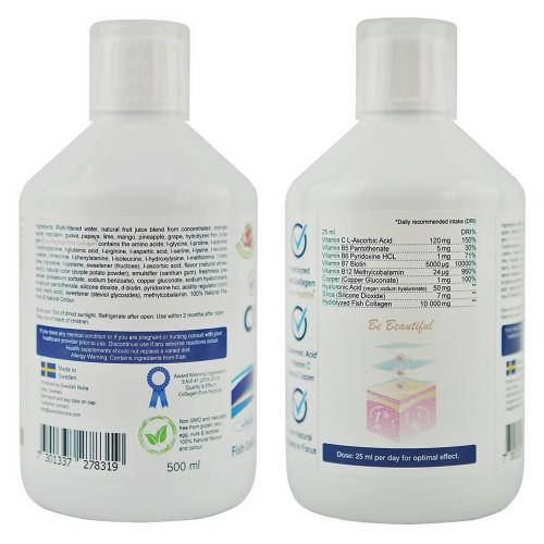 Marine Kollagen Hydrolysat Peptide flüssig - 10.000mg/Dosis, 500 ml