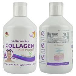 Rinder Kollagen Hydrolysat Peptide flüssig, 10.000 mg/Dosis - 500 ml