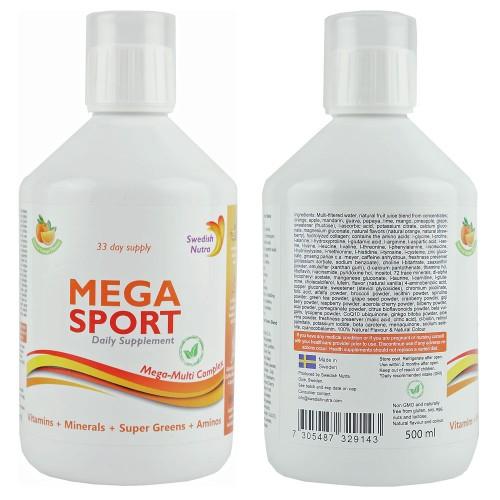 Mega Sport - flüssiges Vitaminkomplex zum Sport, 500 ml