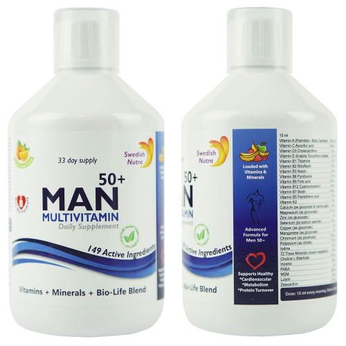 Multivitamin für Männer über 50, 500 ml